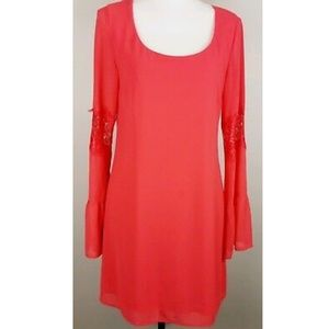 Accidentally in Love Coral Shift Dress Size Small